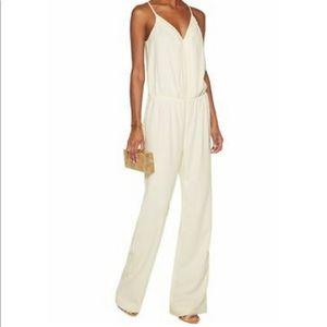 Joie white Beata jumpsuit, size L